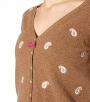 Odd Molly - paisley cardigan - LITE BROWN