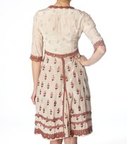 Odd Molly - opulent long dress - VINTAGE CHALK