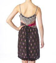 Odd Molly - opulent sleeveless dress - VINTAGE DARK GREY