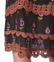 Odd Molly - opulent skirt - DARK POWDER
