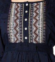 Odd Molly - ariel 3/4 blouse - DARK INDIGO