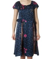 Odd Molly - artwork silk dress - DARK INDIGO