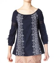 Odd Molly - checkout 3/4 blouse - DARK BLUE