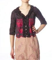 Odd Molly - multi anglaise ltd 3/4 blouse - VINTAGE DARK GREY