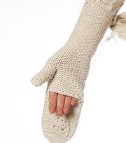 Odd Molly - pigtail long mitt - WINTER WHITE