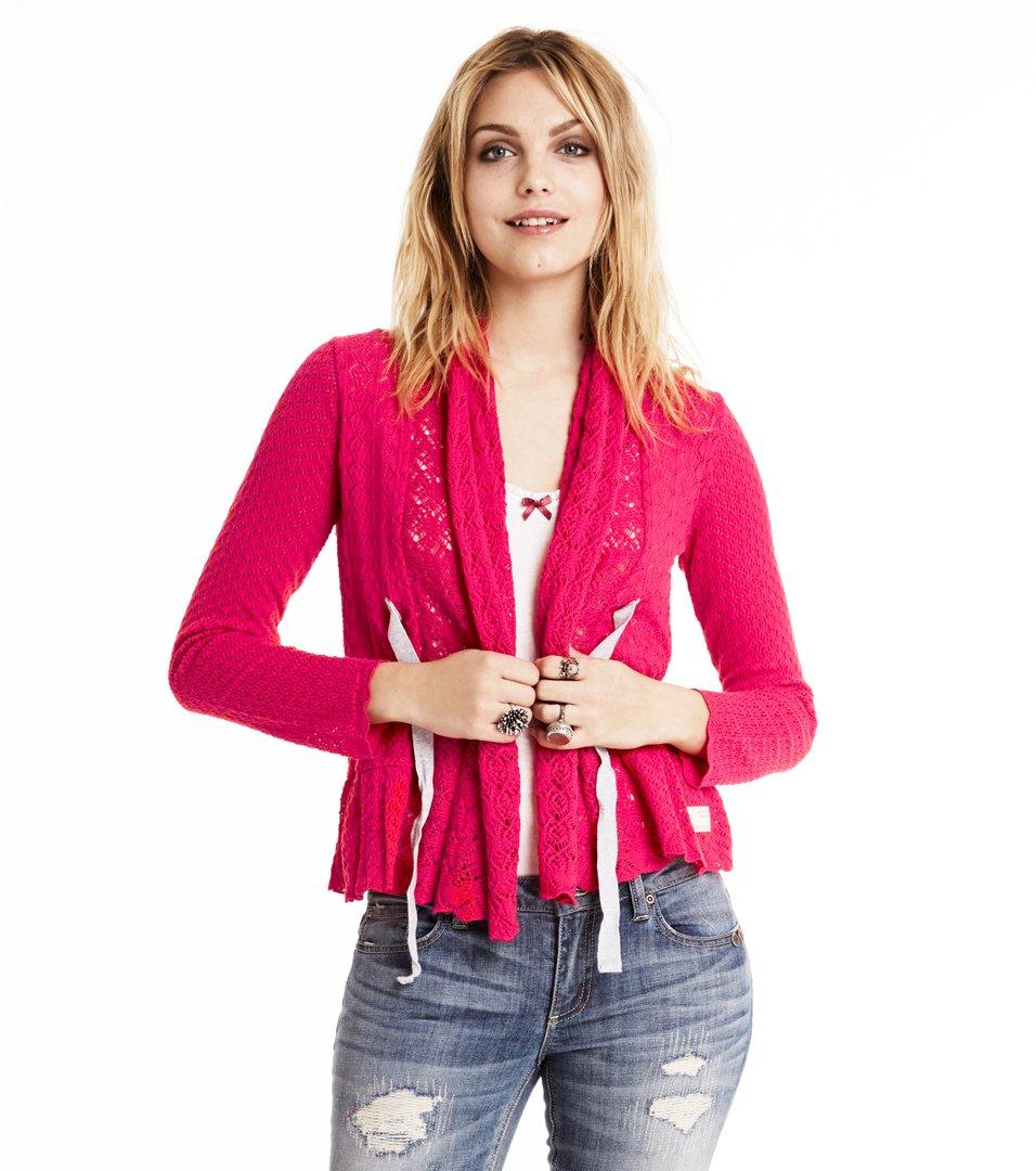 f8dcde24eb131b Odd Molly - top-drawer cardigan - BRIGHT ROSE