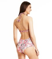 Odd Molly - safety position print swimsuit - STRONG PINK