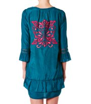 Odd Molly - woodpecker dress - FOREST TEAL