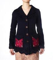Odd Molly - mrs melton jacket - DARK INDIGO