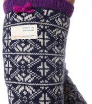 Odd Molly - jacquard long sock - MID INDIGO