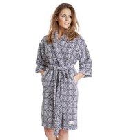 Odd Molly - cozy bathrobe - ASPHALT