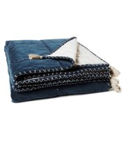 Odd Molly - on top single bedspread - CHINA BLUE