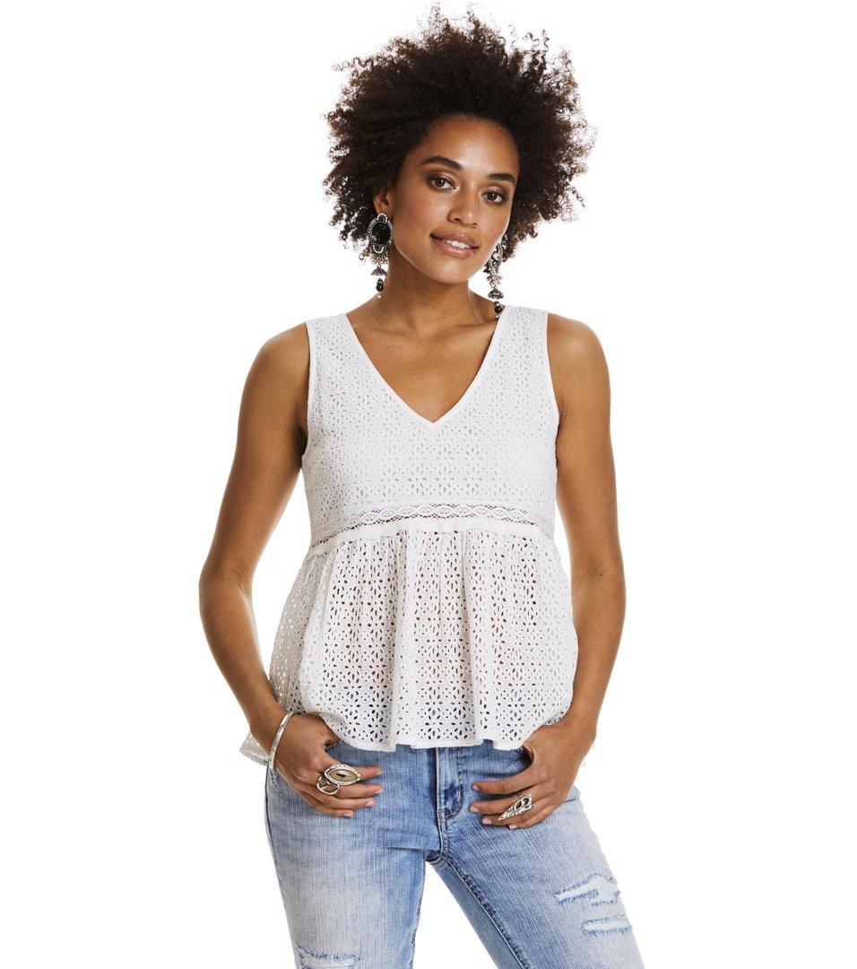 4ce5e9d841a61a Odd Molly - solo sleeveless blouse - LIGHT CHALK