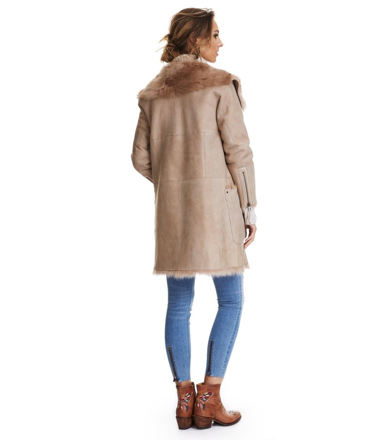 rhythm shearling coat