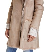 Odd Molly - rhythm shearling coat - WARM SAND