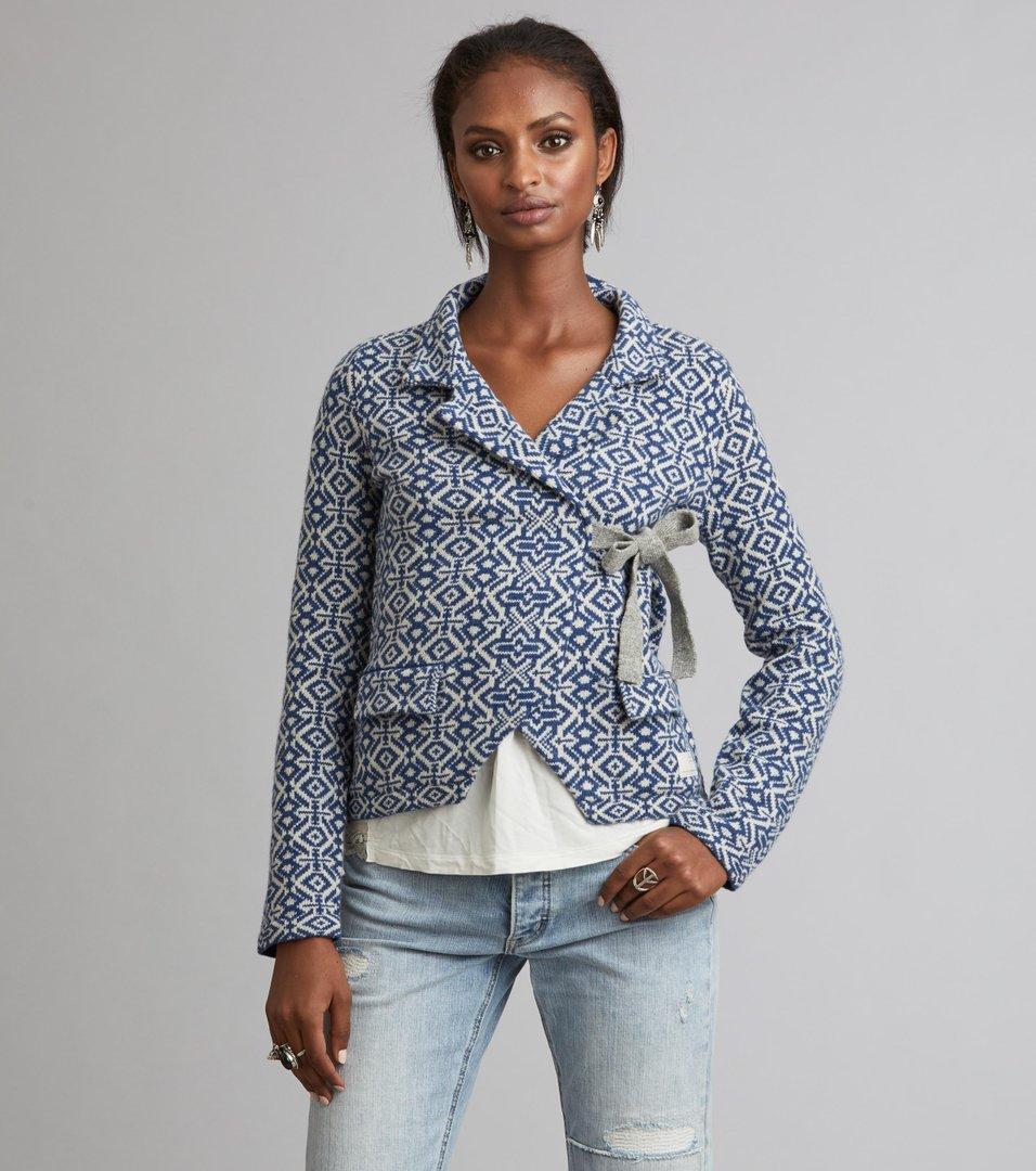 8cef311d9 Odd Molly - lovely knit jacket - BLUE
