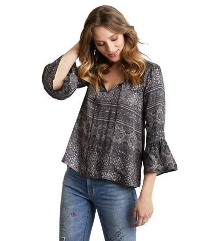 warm hearted tie blouse
