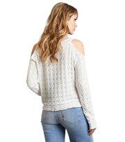 Odd Molly - kniterie sweater - LIGHT CHALK