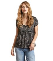 Odd Molly - free floating s/s blouse - ASPHALT