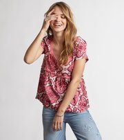 # free floating s/s blouse