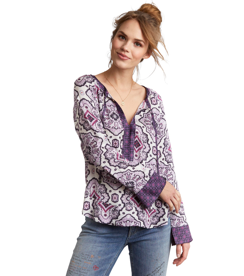 free floating l/s blouse