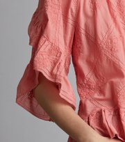 Odd Molly - clever heart blouse - SOFT RASPBERRY