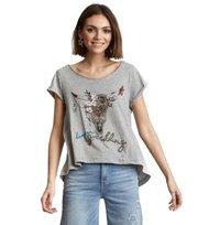 Odd Molly - Keep On T-shirt - LIGHT GREY MELANGE