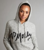 Odd Molly - one and only hood sweater - LIGHT GREY MELANGE