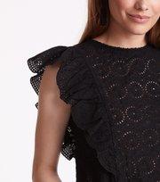 Odd Molly - side kick s/s blouse - ALMOST BLACK