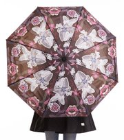 Odd Molly - raindrops foldable umbrella - ALMOST BLACK