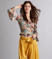 # lucky draw flower blouse