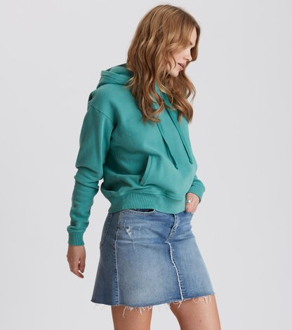 stretch-n-raw jeans skirt