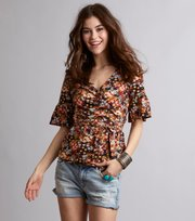 # flower wrap top