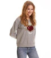 Odd Molly - fun and fair sweater - LIGHT GREY MELANGE
