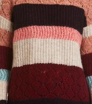 Odd Molly - wolly blocks sweater - RED SKY