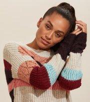 Odd Molly - wolly blocks sweater - RED SKY