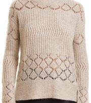 Odd Molly - wolly blocks sweater - CHALK
