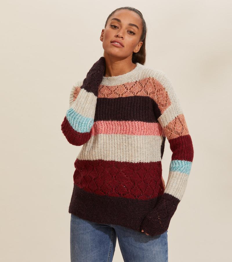 wolly blocks sweater