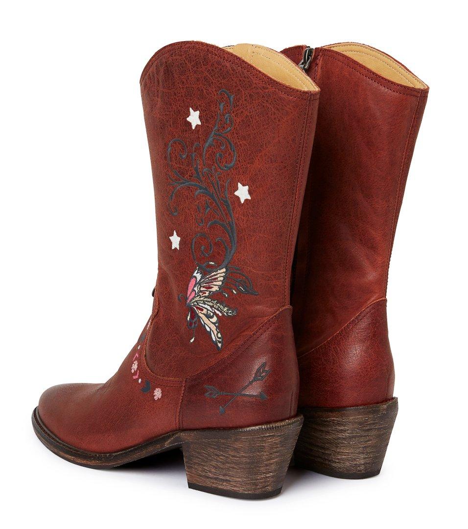 3764e33a257 Odd Molly - høye knock me out-støvler - RED BROWN