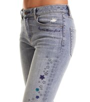 Odd Molly  - groupie cropped jean - MID BLUE