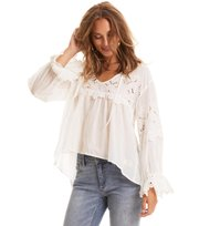Odd Molly - flying with love blouse - LIGHT CHALK
