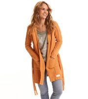 Odd Molly  - good fellow long cardigan - APRICOT TAN