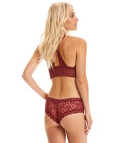Odd Molly - lace oddity top - BIKING RED