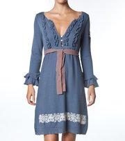 Odd Molly - frill dress - VINTAGE INDIGO