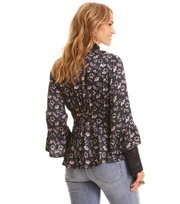 Odd Molly - cosmic moments wrap blouse - ALMOST BLACK