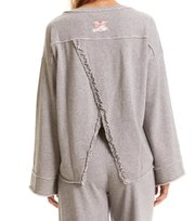 Odd Molly - back swag sweater - GREY MELANGE