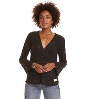 Odd Molly - nordic alps blouse - ALMOST BLACK
