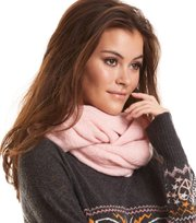 Odd Molly - warm and vivid tube scarf - SHEER PINK