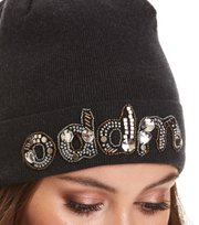 Odd Molly - pastel punk beanie - BLACK