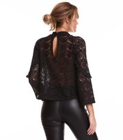 Odd Molly - layer cake blouse - ALMOST BLACK